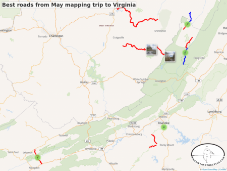Best roads from May mapping trip to Virginia