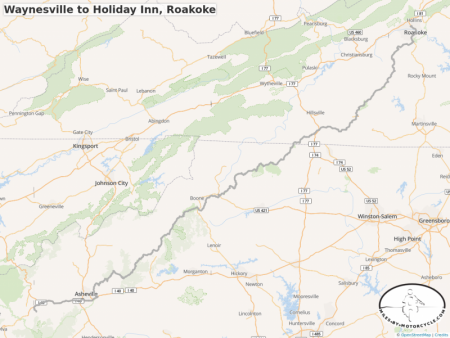 Waynesville to Holiday Inn, Roakoke