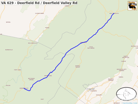 VA 629 - Deerfield Rd / Deerfield Valley Rd