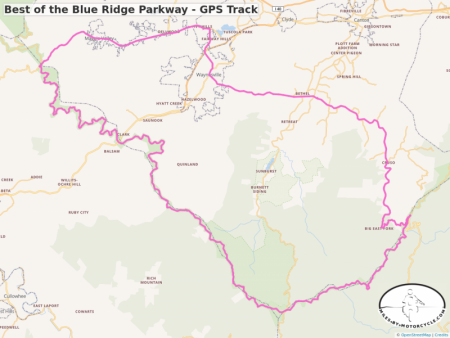 Best of the Blue Ridge Parkway - GPS Track