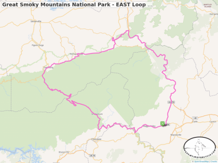 Great Smoky Mountains National Park - EAST Loop - GPS Track