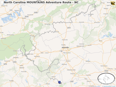 North Carolina MOUNTAINS Adventure Route - NCMAR