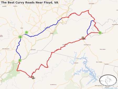 The Best Curvy Roads Near Floyd, VA