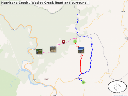Hurricane Creek / Wesley Creek Road and surroundings