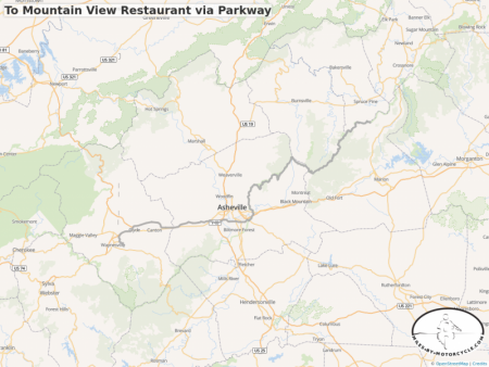 To Mountain View Restaurant via Parkway