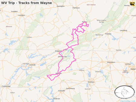 WV Trip - Tracks from Wayne