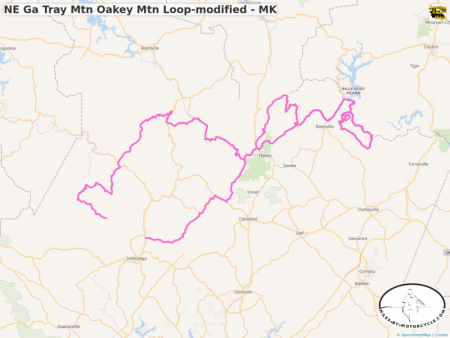 NE Ga Tray Mtn Oakey Mtn Loop-modified - MK