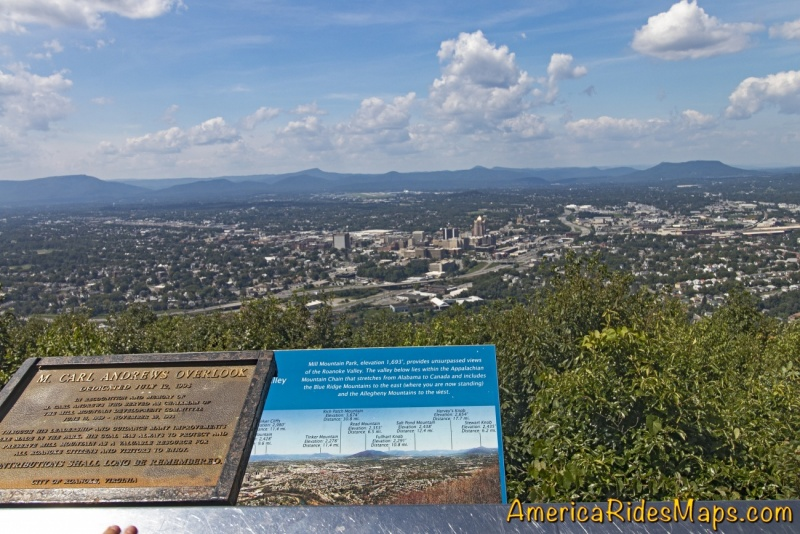 View of Roanoke from Mill Mountain