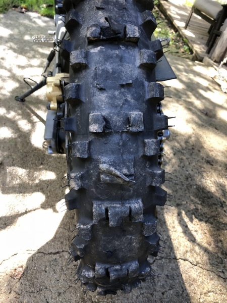 Tire at the end of the ride