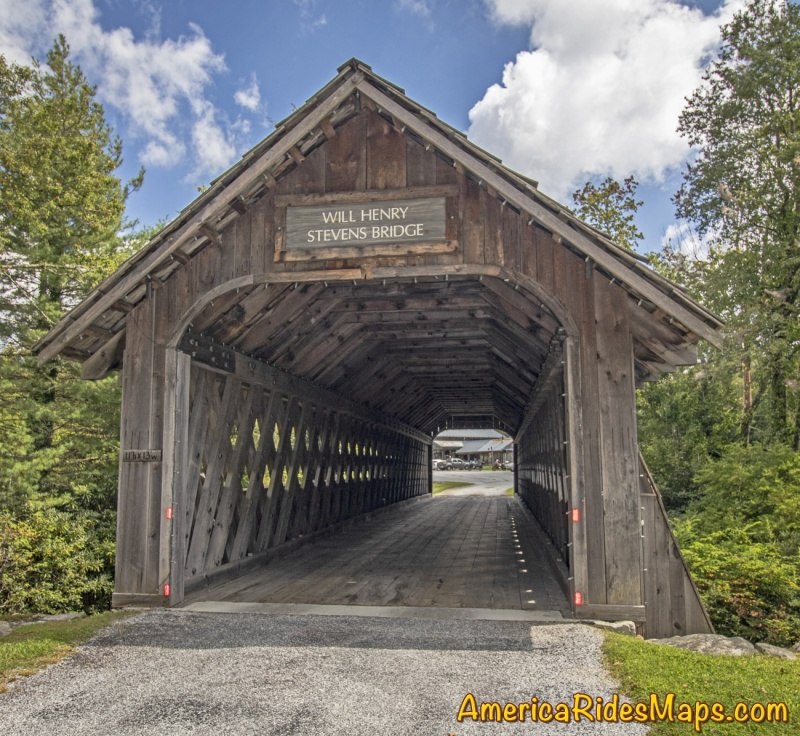 Will Henry Stevens Covered Bridge - Highlands, NC