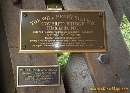 Will Henry Stevens Covered Bridge - History