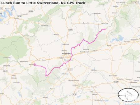 Lunch Run to Little Switzerland, NC GPS Track