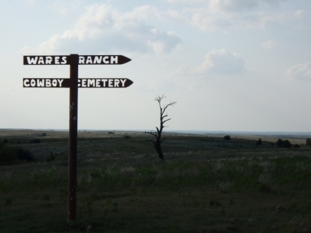 Cowboy Cemetery Sign