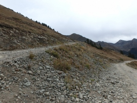 Rocky Gravel Laden Switchbacks