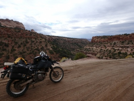 DR650SE in a Utah Canyon near Moab
