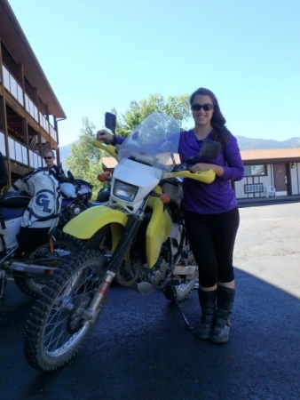 Amber and her DRZ400