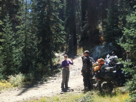 Taking a Break on Marshall's Pass