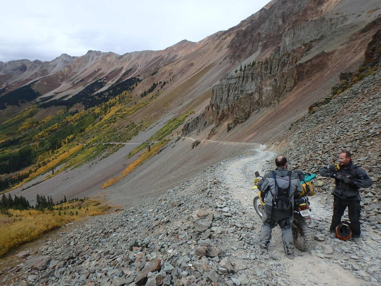 TAT Riders on the Ophir Descent