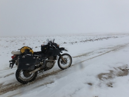DR650SE In the Snow