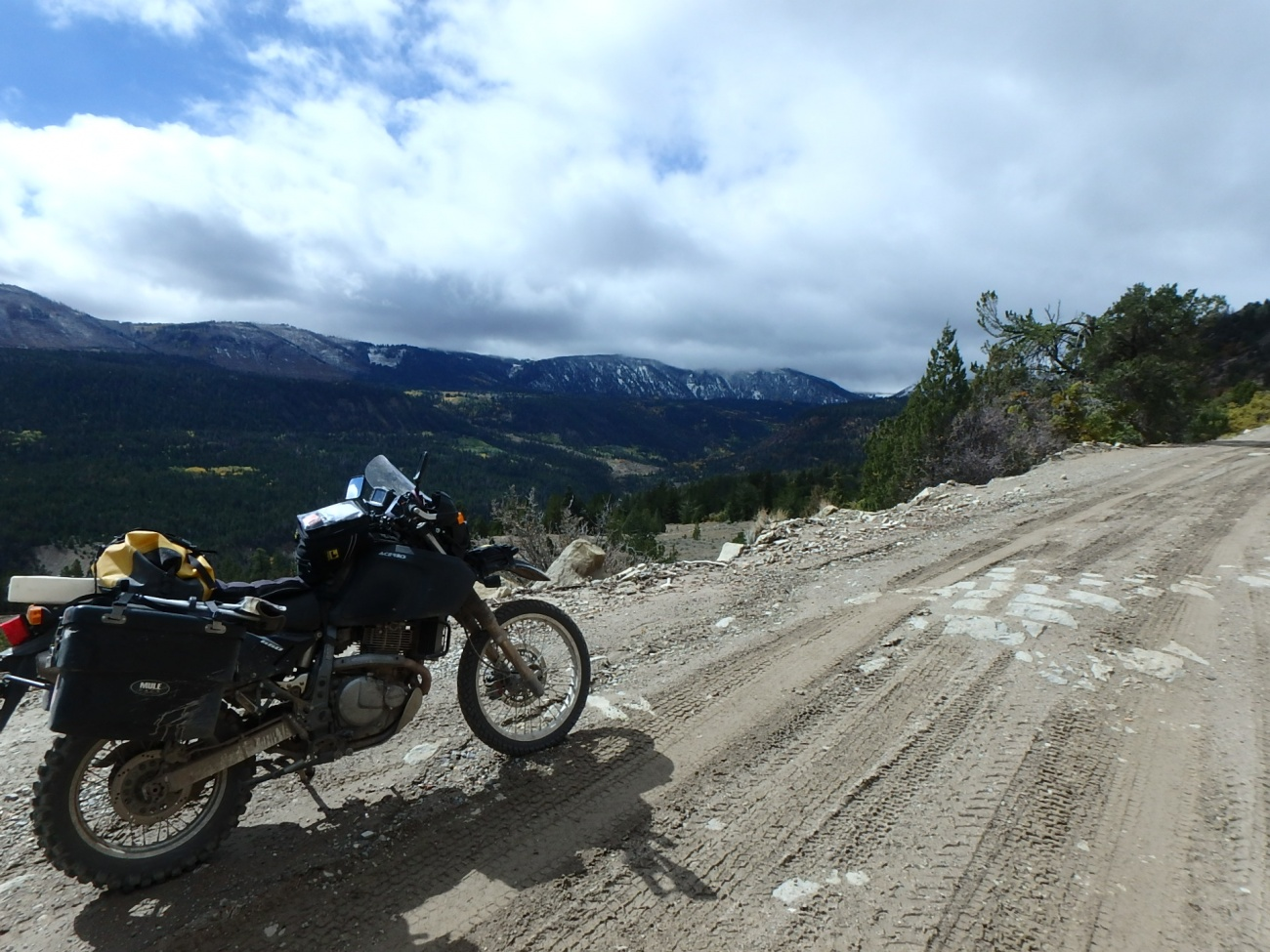 DR650, a View, and Snow