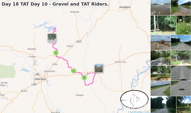 Day 18 TAT Day 10 - Gravel and TAT Riders.