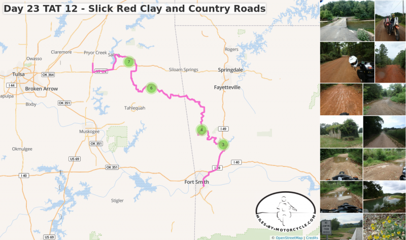 Day 23 TAT 12 - Slick Red Clay and Country Roads