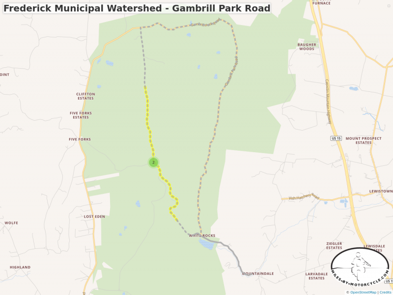 Frederick Municipal Watershed - Gambrill Park Road