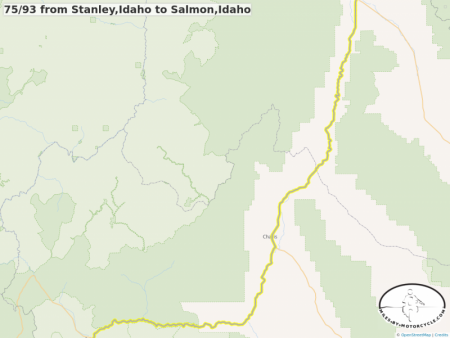 75/93 from Stanley,Idaho to Salmon,Idaho