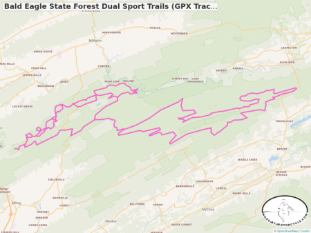 Bald Eagle State Forest Dual Sport Trails (GPX Track from Advrider.com)