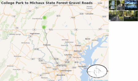 College Park to Michaux State Forest Gravel Roads