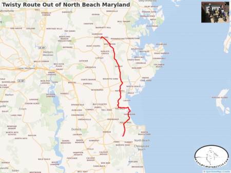 Twisty Route Out of North Beach Maryland