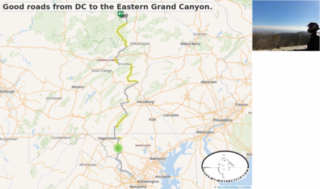 Good roads from DC to the Eastern Grand Canyon.