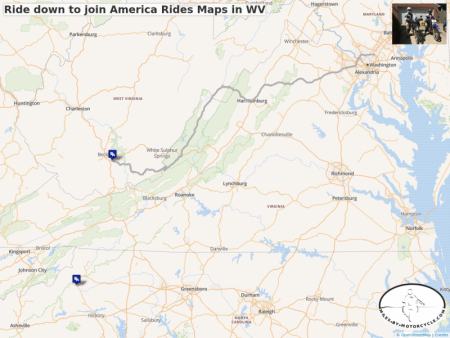 Ride down to join America Rides Maps in WV