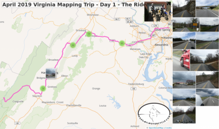 April 2019 Virginia Mapping Trip - Day 1 - The Ride Down