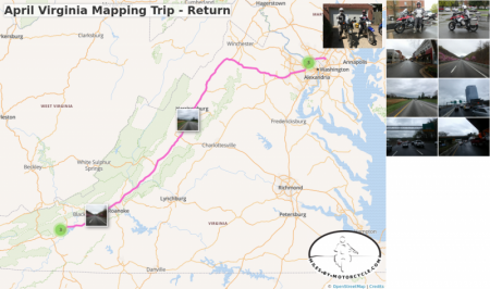 April Virginia Mapping Trip - Return