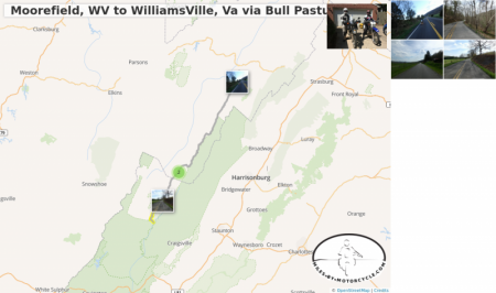 Moorefield, WV to WilliamsVille, Va via Bull Pasture River Road