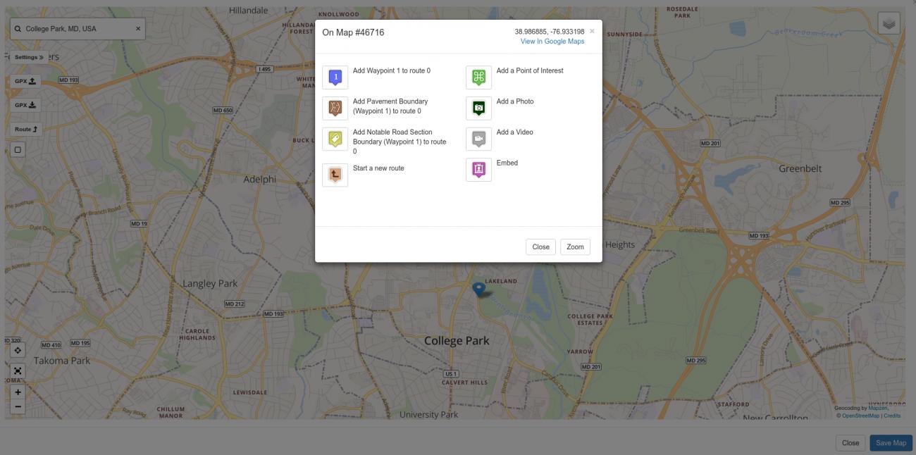 Map Click Popup
