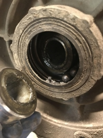 DR650SE rear wheel bearing failure