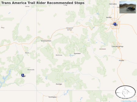 Trans America Trail Rider Recommended Stops