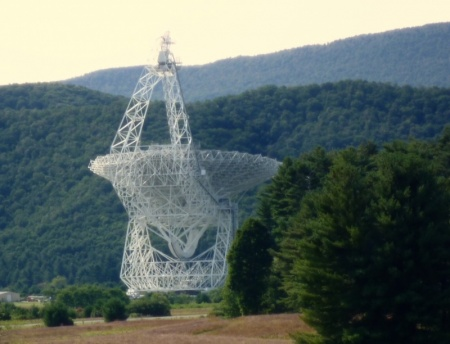 Green Bank deep space listening dish