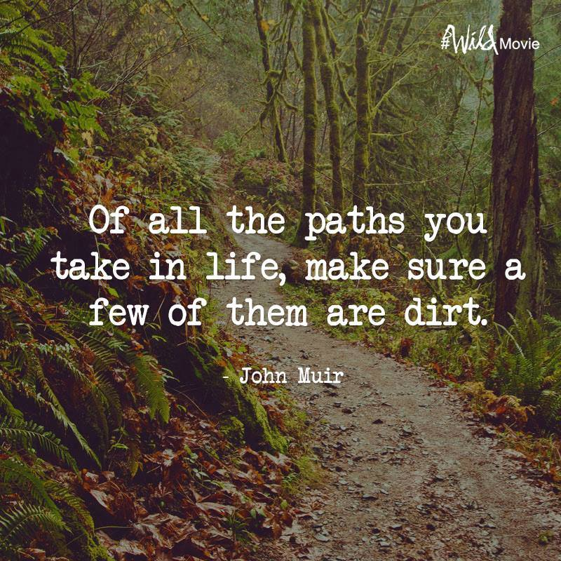 Of all the paths you take ...