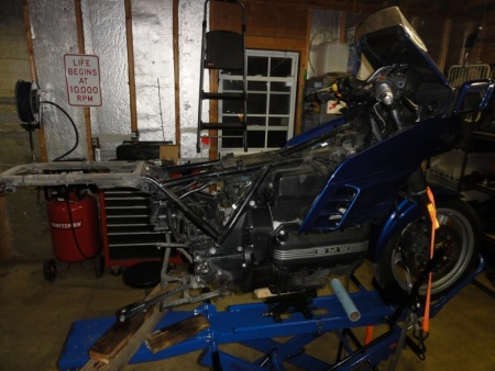 BMW Final Drive, Drive Shaft and Swingarm Removed