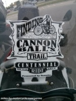 Finding Cannon Ball Bakers Trailer Sticker
